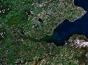 Satellite photo of the Firth and the surrounding area