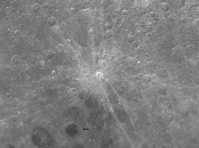 Кратер Д. Бруно на Луне