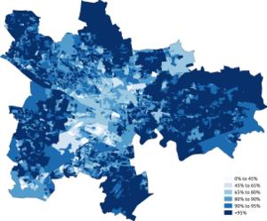 Demography of Glasgow - Image: White Glasgow 2011 census