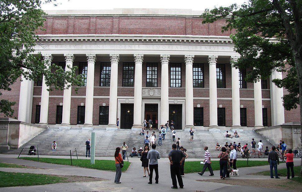 Widener Library, Harvard University, Cambridge MA