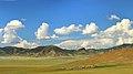Widoki mongolskiego krajobrazu widziane z minibusa Karakorum - Ułan Bator (20).jpg