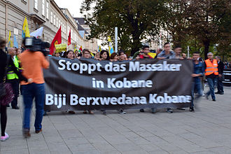 Siege of Kobanî - Demonstration in Vienna, Austria, 10 October 2014