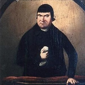 Lewes Free Presbyterian Church - A painting of William Huntington S.S. that hung in the chapel
