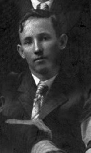 William A. Shands - Shands in football team photo.