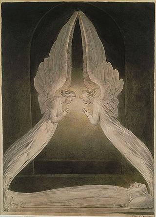 Christus Im Grab Bewacht Von Engeln · William Blake (1757 1827) Englischer  Maler, Naturmystiker, Dichter