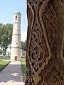 Wooden Pillar with Minaret - Jami Mosque - Kokand - Uzbekistan (7536425112).jpg