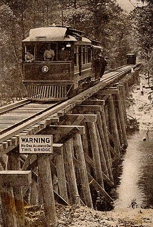 Bogue Falaya - Wooden bridge crossing the Bogue Falaya River near Covington, Louisiana, 1910s.