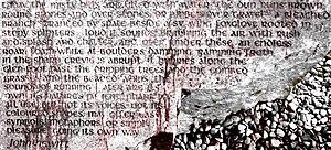 John Hewitt (poet) - Words by John Hewitt on the Cushendun Stone.