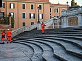 Workers cleaning the Spanish Steps during November 2013.jpg