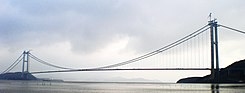Xihoumen Bridge in construction.jpg
