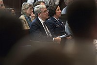 Yale University President Peter Salovey at the Yale University Reserve Officers' Training Corps Commissioning Ceremony in New Haven, Conn, May 23, 2016.jpg