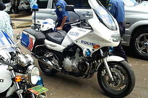 Police motorcycle - Yamaha Indonesian Traffic police motorcycle