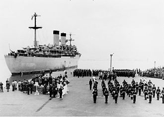 Yokohama - During the Korean War, the United States Navy used Yokohama's port as a transshipment base. This ship departed Yokohama in 1951, carrying war dead home to the U.S.