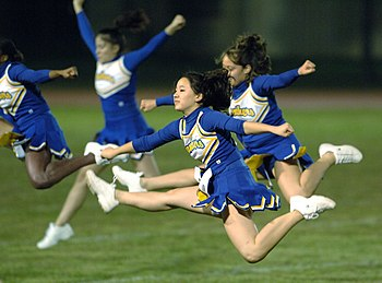 Yokota cheerleaders