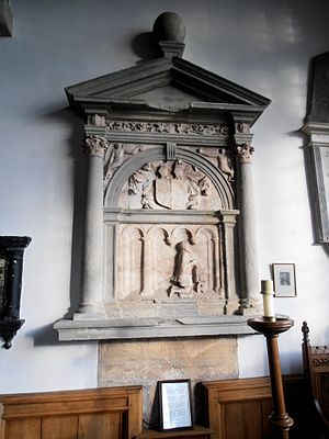Humphrey Llwyd - A Victorian-era monument honouring Humphrey Llwyd in St. Marcella's Church, Denbigh.