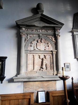 Humphrey Llwyd - A Victorian-era monument honouring Humphrey Llwyd in St. Marcella's Church, Denbigh.