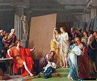 Zeuxis Choosing Models from the Beautiful Women of Croton - 1789.JPG