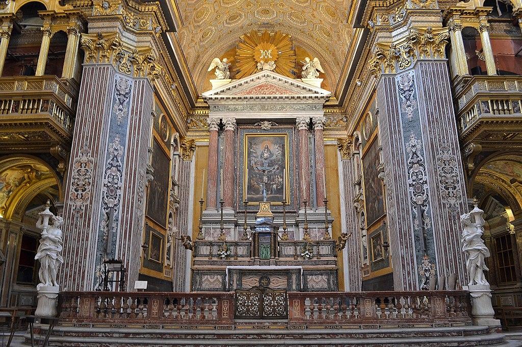 Autel de la Chiesa dei Girolamini di Napoli - Photo de Giuseppe Guida