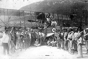 Zsákmányolt olasz Macchi L.3 típusú repülőcsónak. A kép valószínűleg Catarro-ban (ma Kotor - Montenegro) a haditengerészeti támaszponton készült. Fortepan 57932.jpg