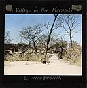 """A village in the Marambo"", Malawi-Nyasaland, ca.jpg"