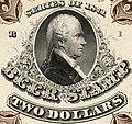 """""""BEER STAMP TWO DOLLARS SERIES OF 1971"""" art detail, Alexander Hamilton Beer revenue stamp $2 Hogshead (cropped).JPG"""
