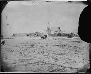 John William Pearson - A photograph of Globe Tavern at Warren Station by Mathew Brady between 1860 and 1865. It is probable that this is the cornfield where Pearson was mortally wounded.