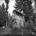 """""""Kozloviše"""" s streho - torej že """"samc"""" (enojni kozolec),""""na Kotlih"""", Zakraj 1954.jpg"""