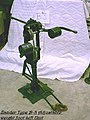 """""""Zander Type B-3 Adjustable Weight Foot Lift Unit"""" is a cast-iron column attached to a rectangular frame of iron. A steel (2c5daee5-6c5d-40b1-88aa-c2f32c250820).JPG"""