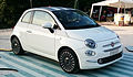 """ 15 - ITALY -Fiat 500 restyling in Sempione Park (Sforzesco Castle) in Milan - world premier 2015 Hatchbacks purple lounge and white sport 02.jpg"