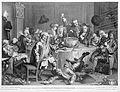 'A midnight modern conversation', after William Hogarth. Wellcome L0013091.jpg