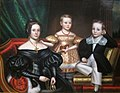 'The Willard Family', oil on canvas painting attributed to the Borden Limner.JPG