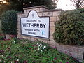 'Welcome to Wetherby' sign, Boston Road, Wetherby (30th October 2015).JPG