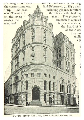 New York Cotton Exchange - Image: (King 1893NYC) pg 805 NEW YORK COTTON EXCHANGE, BEAVER AND WILLIAM STREETS