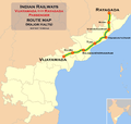 (Vijayawada - Rayagada) Passenger train route map.png