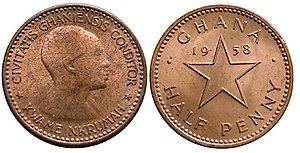Ghanaian pound - Image: ½ penny (Ghanaian pound)
