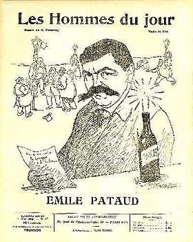 Caricatura de Émile Pataud porAristide DelannoyparaLes Hommes du jour,no67, 1909.