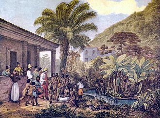 Johann Moritz Rugendas - Image: Índios em uma fazenda
