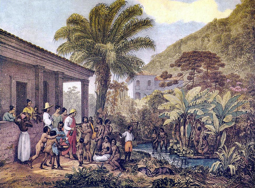 Índios em uma fazenda