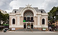 O Teatro Municipal da cidade de Ho Chi Minh