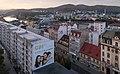 Ústí nad Labem, straatzicht Mírové Náměstí naar oosten vanaf Interhotel Bohemia IMG 7676 2018-08-12 05.58.jpg