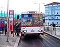 Ústí nad Labem, zastávka Hlavní nádraží, trolejbus 520.jpg