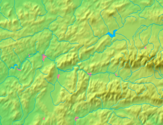 Krásno nad Kysucou - Image: Žilina Region background map