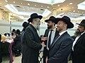 """הרב ישעיהו ויין והרב אבי ברגר עם ר""""י פוניבז' הגר""""ש מרקוביץ.jpg"""