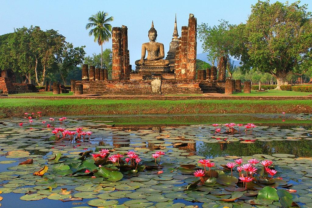 Temple Wat Mahathat à Sukhothai en Thailande - Photo de Pitchayawat