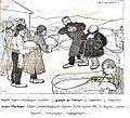 აკაკის მოგზაურობა რაჭა-ლიჩხუმში. კარიკატურა. ოსკარ შმერლინგი.1913.jpg