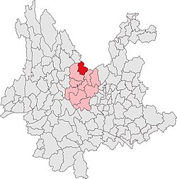 Location in Yunnan