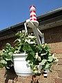-2019-08-13 Happisburgh lighthouse themed hanging basket, Trimingham, Norfolk.JPG