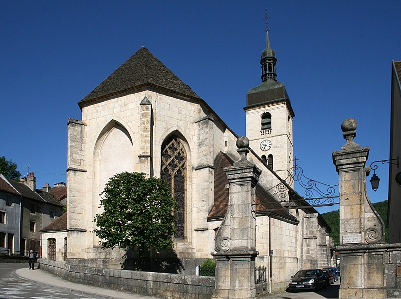 Ornans (Doubs - France), the church of Saint Laurent.