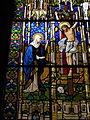 114 Castell de Santa Florentina (Canet de Mar), vitrall de la Crucifixió.JPG