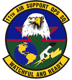11th Air Support Operations Squadron - Emblem of the 11th Air Support Operations Squadron